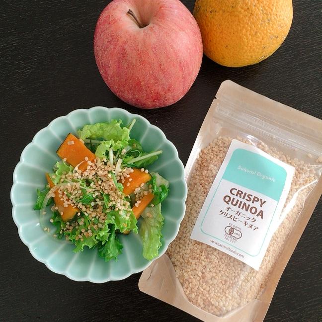 桜井食品さんのクリスピーキヌア を使ったサラダ